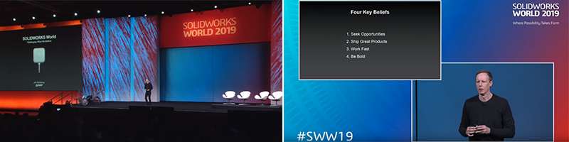 SOLIDWORKS World 2019 Square