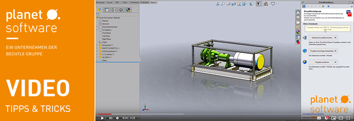 Video Tipp SOLIDWORKS DriveWorks Xpress Teil 2